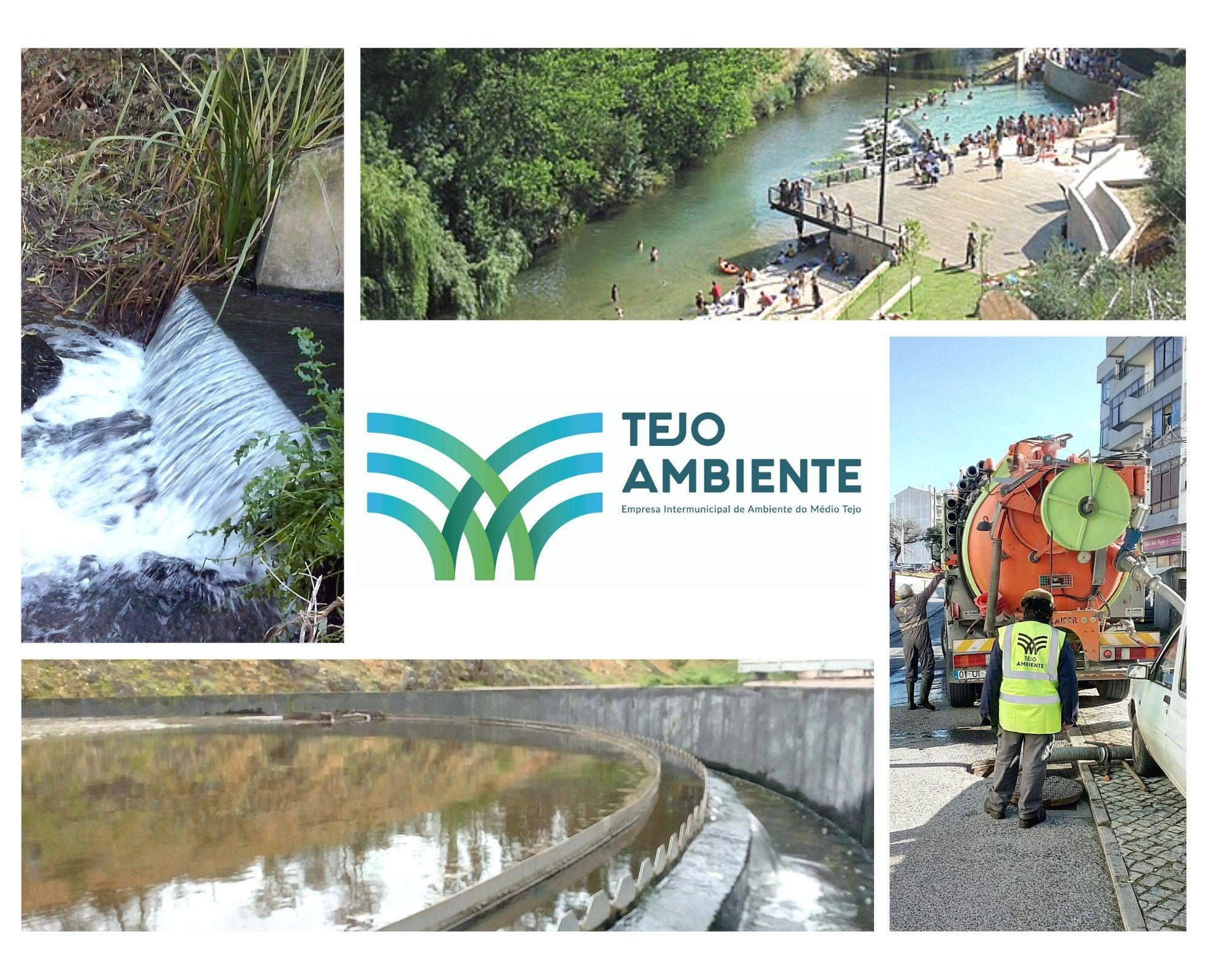 Fotografia: montagem de imagens de áreas de atuação da Tejo Ambiente