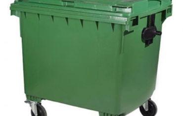 Fotografia de contentor do lixo